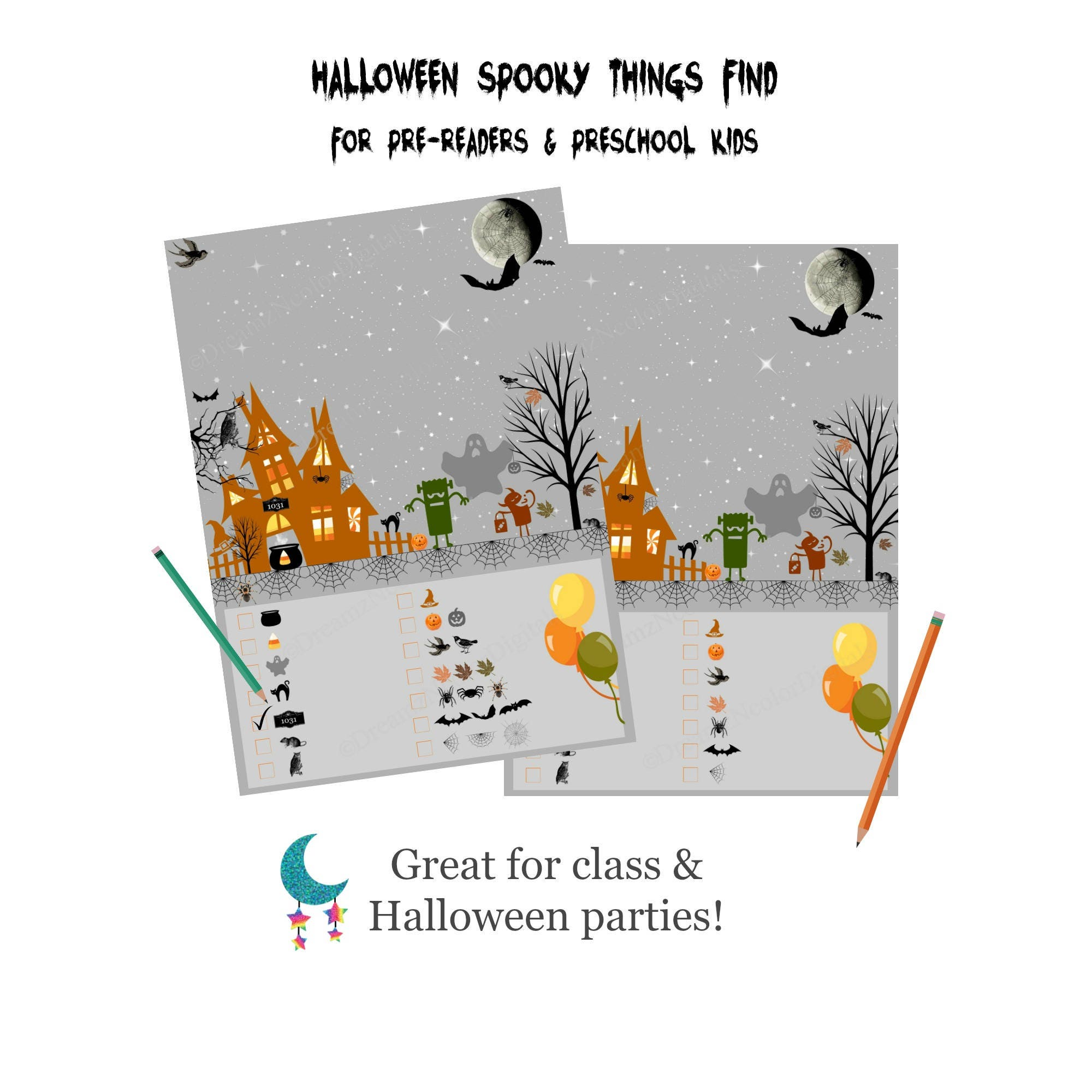 image relating to Printable Holloween Games known as Printable Halloween Online games; Pre-Website visitors Halloween Bash Sport, Preschool Little ones Track down Recreation Printables, Do it yourself Electronic Halloween Video game Sheet