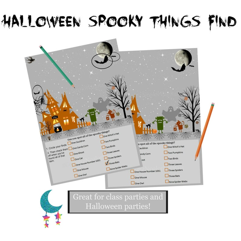 photograph about Printable Halloween Game named Printable Halloween Sport; Quick Obtain Cl Bash Halloween Get together Sport, Young children Sport Printable, Do-it-yourself Electronic Halloween Video game Sheet