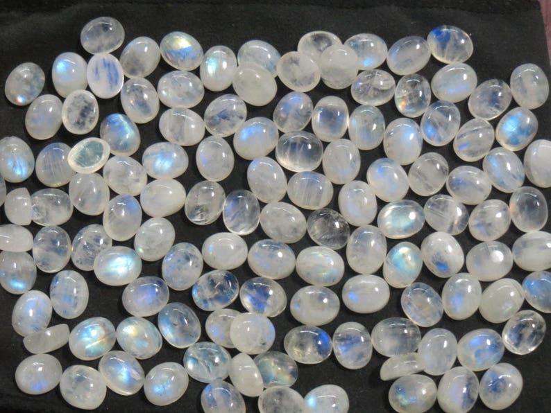 119 pc Rainbow moonstone stone cabochon LOT 11x9 mm calibrated gemstones 521 carats Blue FLASH AAA grade Jewelry Healing chakra crystals