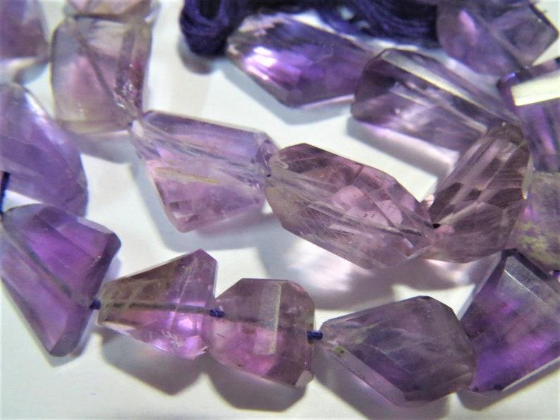 11 strand Amethyst Faceted Nugget Gemstone Bead Tumble LASER CUT Irregular Semi precious stones purple Healing Crystals Jewelry Supplies