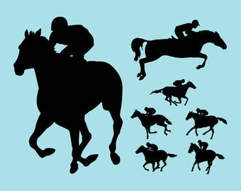 Horse Racing Svg