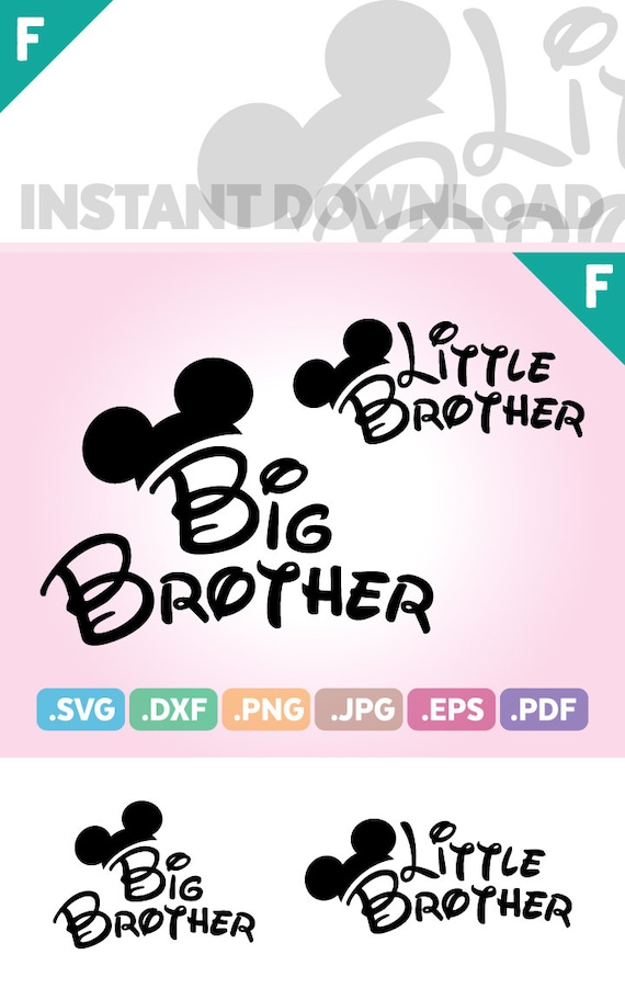 Little Brother Mouse Ears Cut File, Big Brother Quotes SVG Files, Little  Brother SVG Files, Brother Birthday Cutting File, Instant Download