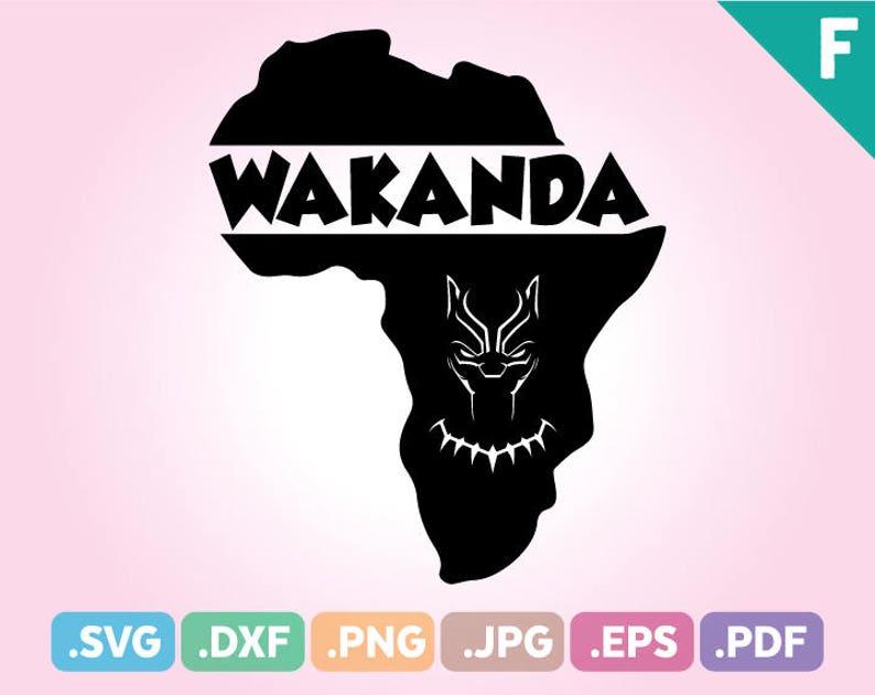 Africa Map Wakanda Black Panther Svg Files Black Panther Etsy
