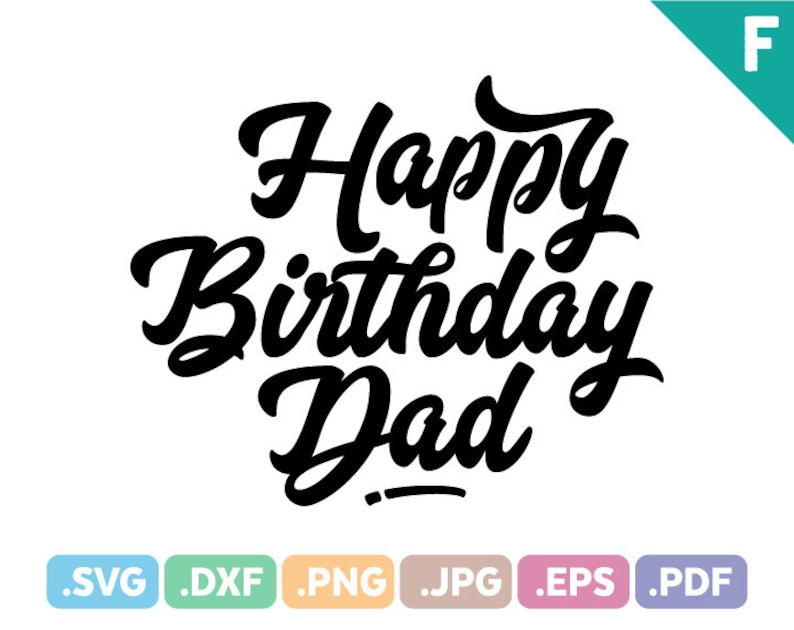 Daddy Quotes   Happy Birthday Dad Quotes Svg Files Quotation Svg Cutting Etsy