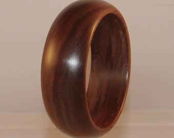 Bracelet wide wood American Walnut