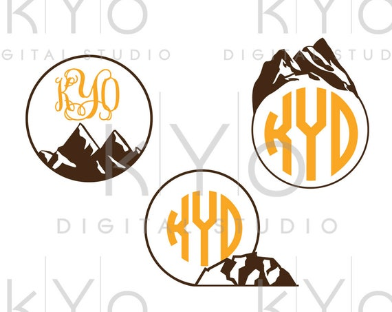 Mountain SVG Travel SVG Explore SVG Mountain Monogram svg studio3 png dxf iron on tshirt decal design, Commercial use svg files for Cricut