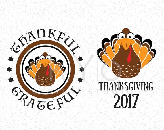 Thanksgiving SVG files Turkey SVG Turkey PNG Clipart Thanks Giving svg files Thankful Grateful svg files for Cricut and Silhouette