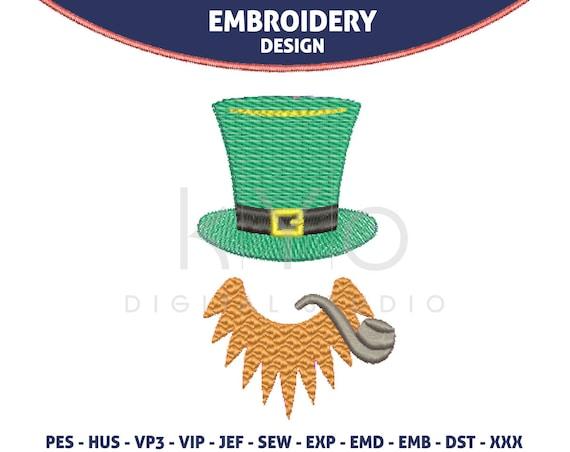 St Patricks Day Embroidery design, Leprechaun embroidery design HUS JEF VP3 PES embroidery files designs machine embroidery monogram frame