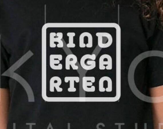 Kindergarten SVG, Kinder garten svg, tshirt svg, square frame svg, svg files for Cricut, commercial use svg