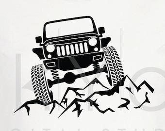 Adventure Awaits Svg Distressed Jeep Wrangler Svg Explore Etsy