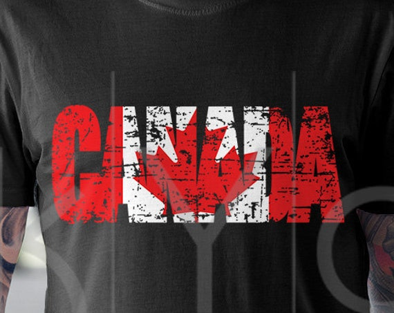 Canada Day svg Distressed Canada flag svg Canadian flag svg Canada Shirt design svg files for Cricut Silhouette DXF files PNG Clipart EPS