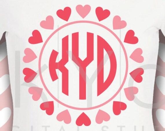Valentines day svg Heart monogram svg Love svg Wedding svg Png Studio3 Dxf Commercial use svg for Cricut Silhouette files