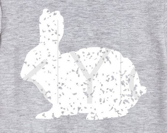Distressed Easter bunny svg Happy easter SVG Easter rabbit svg Grunge svg files for Cricut Explore Silhouette Cameo