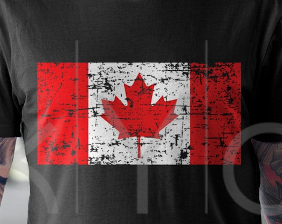 Distressed Canada flag svg Canadian flag svg Canada Day svg files for Cricut Silhouette DXF files PNG Clipart EPS Vector image Shirt design