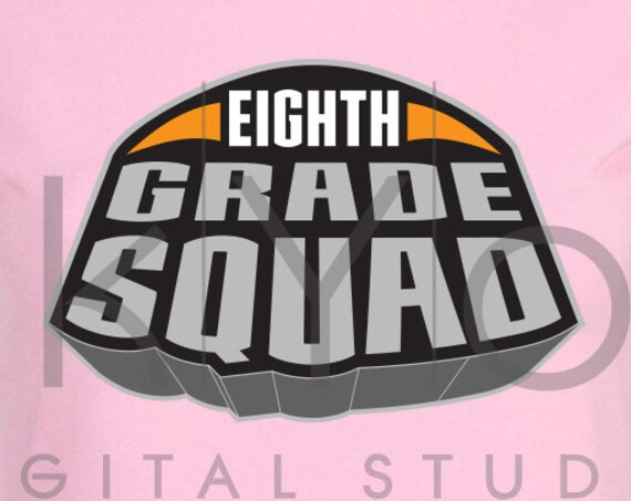 Marvel Superheroes Eighth grade squad svg png dxf eps files for Cricut and Silhouette
