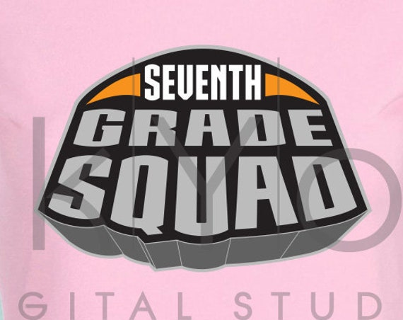 Marvel Superheroes Seventh grade squad svg png dxf eps files for Cricut and Silhouette