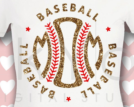 Baseball SVG Baseball Mom SVG Stitches svg baseball monogram svg studio3 png iron on decal design Mom Monogram svg, Commercial use svg