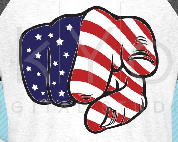 American flag svg Pointing Finger svg Uncle Sam svg 4th of July fist svg Stars and stripes American shirt svg files for cricut silhouette