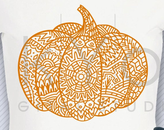 Zentangle Pumpkin design svg png dxf eps files