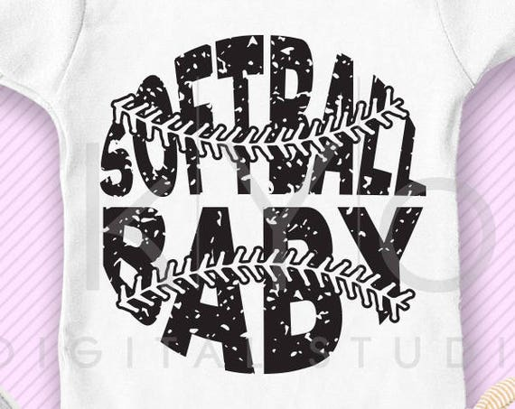 Softball SVG Softball Baby SVG, Stitches svg, distressed softball svg studio3 png grunge softball mom htv design svg Softball tshirt svg