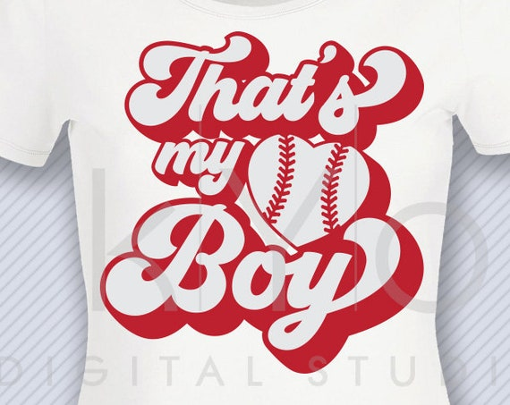 Thats my boy svg Baseball heart svg Love svg png dxf studio3 files for Cricut Silhouette iron on svg htv heat transfer design svg clipart