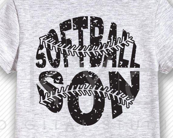 Softball SVG Softball Son SVG, Stitches svg, distressed softball svg studio3 png grunge softball htv design svg Softball tshirt svg