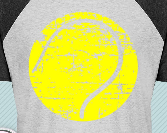 Distressed tennis ball svg, Tennis svg,  Grunge tennis svg, tennis shirt svg png dxf files for Cricut Silhouette sport shirts svg dxf files