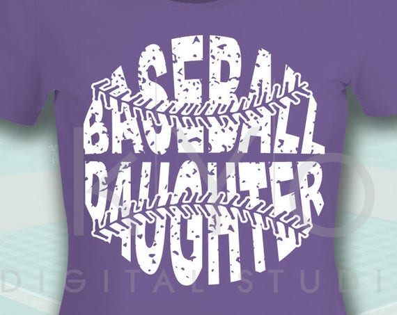 Baseball SVG Baseball Daughter SVG, Stitches svg, distressed baseball svg studio3 png grunge baseball htv design svg Baseball tshirt svg
