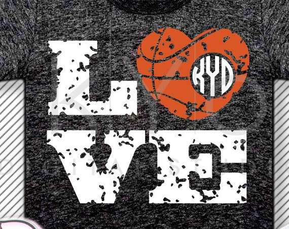 Distressed Love Basketball svg Basketball Heart Monogram svg Distressed svg Basketball Love svg Heart ball svg Grunge basketball svg