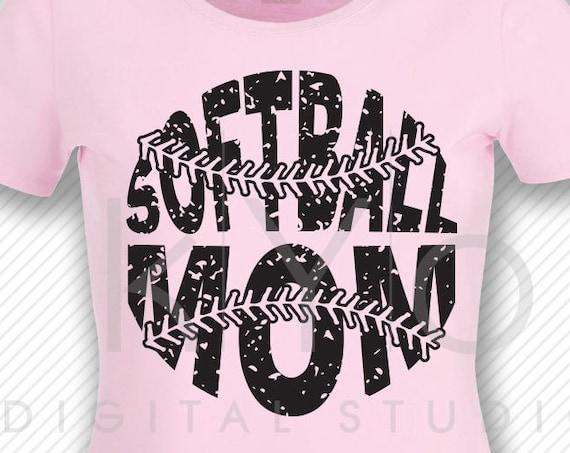 Softball SVG Softball Mom SVG, Stitches svg, distressed softball svg studio3 png grunge softball htv design svg Softball tshirt svg