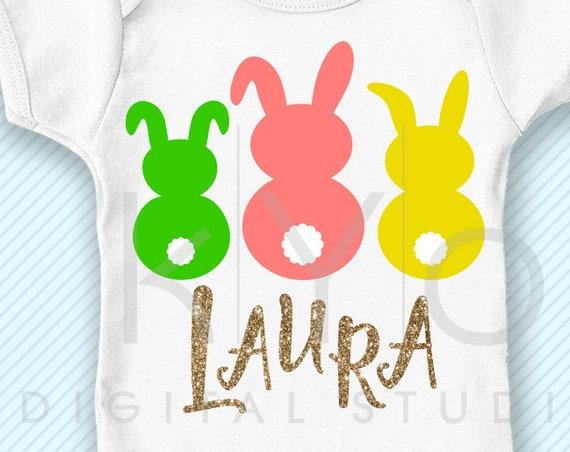 Easter svg Bunny svg Three bunnies svg png dxf studio3 files rabbit svg easter bunny tail svg Girl Easter monogram svg Kids baby easter png