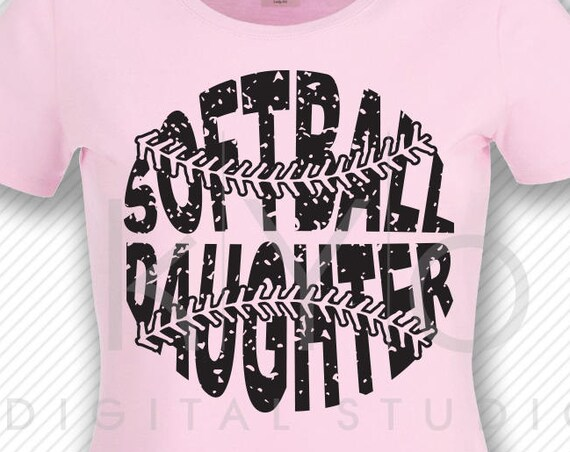 Softball SVG Softball Daughter SVG, Stitches svg, distressed softball svg studio3 png grunge softball htv design svg Softball tshirt svg