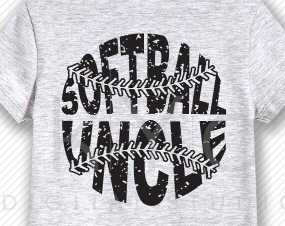 Softball SVG Softball Uncle SVG, Stitches svg, distressed softball svg studio3 png grunge softball htv design svg Softball tshirt svg