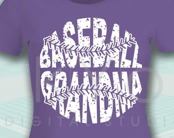 Baseball SVG Baseball Grandma SVG, Stitches svg, distressed baseball svg studio3 png grunge baseball htv design svg Baseball tshirt svg