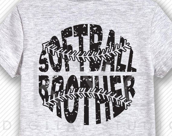Softball SVG Softball Brother SVG, Stitches svg, distressed softball svg studio3 png grunge softball htv design svg Softball tshirt svg