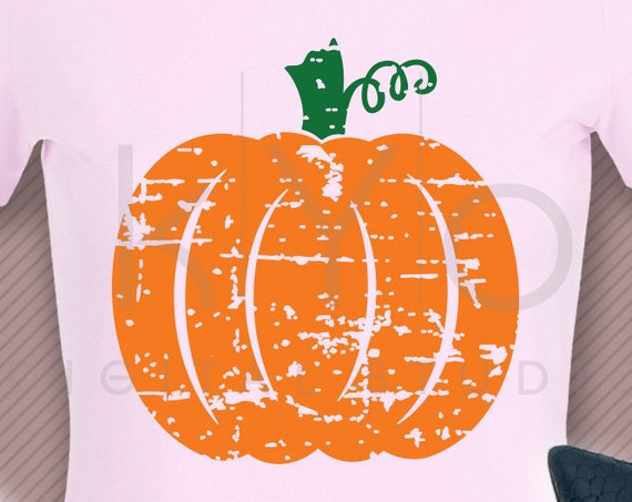Grunge Distressed Pumpkin Shirt design svg png dxf eps files