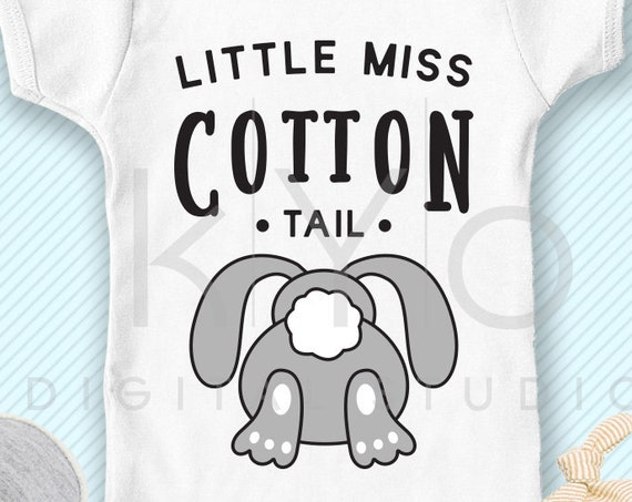 Little Miss Cotton Tail Easter svg Easter bunny SVG Happy Easter svg files for Cricut Silhouette Cotton tail svg Little Miss svg