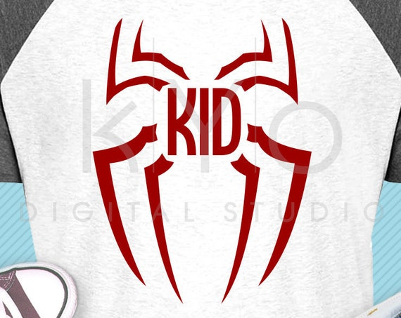 Spiderman kids shirt svg Spiderman svg dxf png files Marvel svg Superhero kids shirt svg files for Cricut Silhouette Marvel family shirt svg