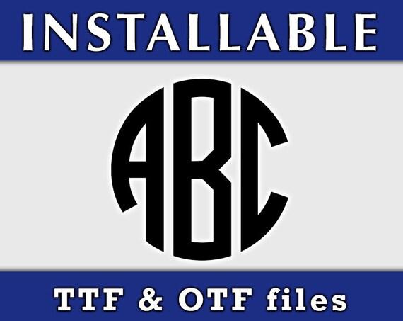 Circle True Type Fonts, Circle Monogram Font ttf, TTF Fonts, Cricut TTF fonts, Cricut True Type monogram Fonts, installable Fonts