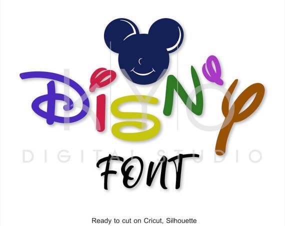 Disney font SVG Alphabet Letters Bundle cut files for Cricut Design Space Silhouette Studio Brother Scan N Cut, digital vector font
