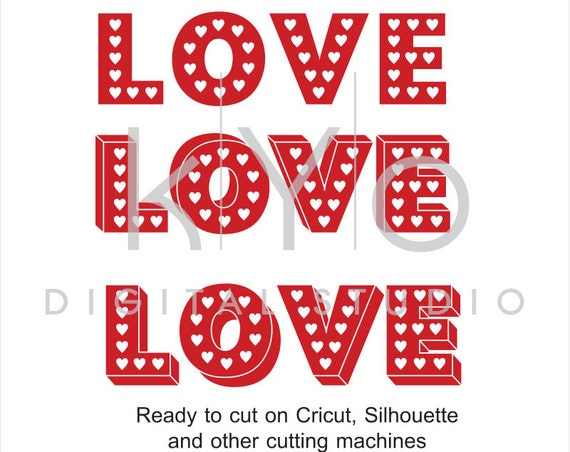 Love SVG cut files, Love heart SVG, Valentines day SVG, Love 3D design cut files, love bird svg files for Cricut and Silhouette Cameo files