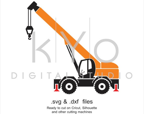 Crane SVG, Construction SVG cut file, Transportation SVG file, Overhead Crane svg, cutting files for Cricut Explore and Silhouette Cameo