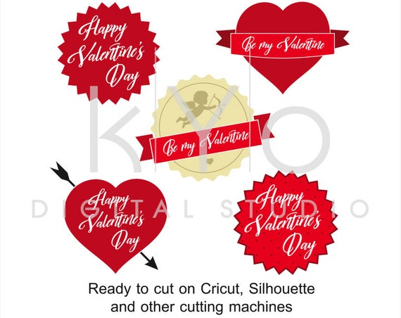 Letter Wax Seal Cupid Happy Valentines Day Love Heart svg files for Cricut and Silhouette
