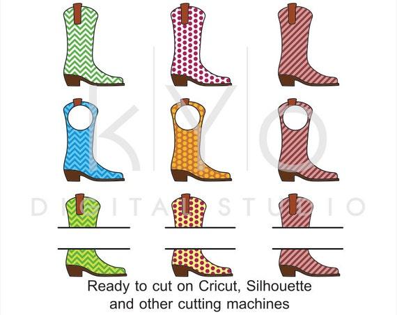 Cowboy Boots SVG Line dance svg Western svg Cowgirl svg Farm svg png Cowboy monogram svg files for Cricut Silhouette Scan n cut