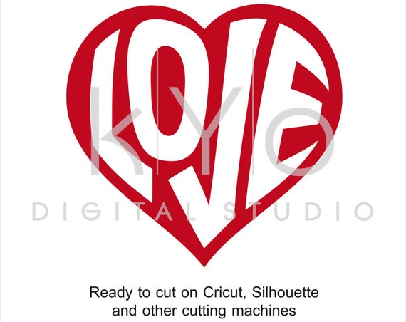 Valentines Day SVG cut files, Love Heart SVG, Happy Valentines Day svg, Wrapped letters svg files for Cricut and Silhouette Cameo #svg
