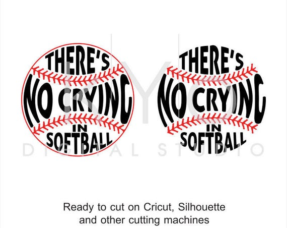 Softball SVG cut files, There Is No Crying In Softball svg, Softball stitches svg, svg cut files for Cricut and Silhouette