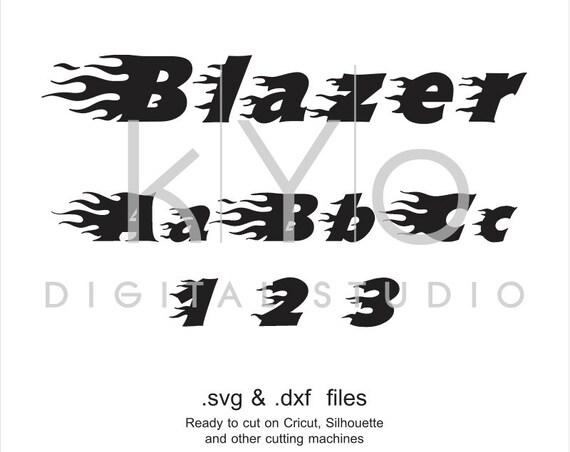 Blaze Flame font cuttable svg files, Flame alphabet svg, Monogram letters, cricut design space, silhouette, svg files, digital font