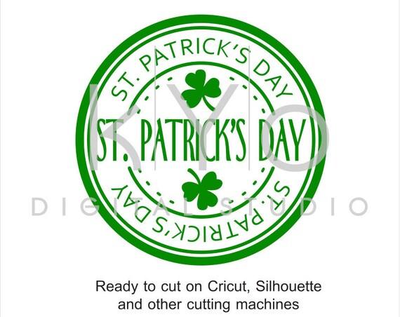 St Patrick Day svg cut print files, St. Patricks Day stamp, Clover svg, Shamrock svg cuttable svg files for Cricut and Silhouette #svg