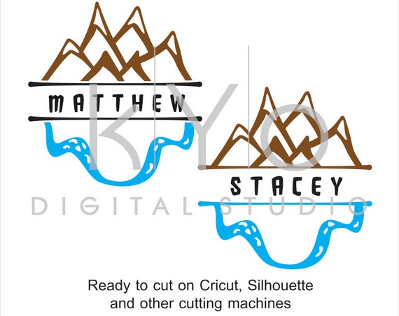 Mountains SVG cut files, Camping svg, Travel svg, Adventure svg, Camping monogram, cuttable svg files for Cricut and Silhouette Cameo #svg