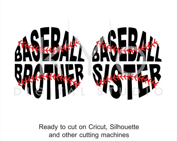 Baseball SVG, Baseball Brother SVG, Baseball Sister svg, Baseball Stitches svg, svg cut files for Cricut and Silhouette